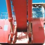 Hydraulic excavator boom cylinders