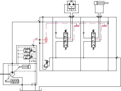 Power saving with hydraulic load-sensing control